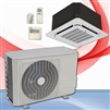 Mini Split 9,000 BTU DiamondAir SubZero Heat 20 SEER Heat Pump Ceiling Cassette System D2009SHO, DF2009CI