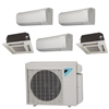 Mini Split Multi 5 Zone Daikin up to 20.2 SEER Heat Pump System 5MXS48TVJU x 5 Wall Mount or Ceiling Cassette