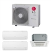 Mini Split Multi 3 Zone LG up to 21.7 SEER Heat Pump System LMU24CHV x 3 Wall Mount or Ceiling Cassette