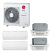Mini Split Multi 4 Zone LG up to 22 SEER Heat Pump System LMU30CHV x 4 Wall Mount or Ceiling Cassette