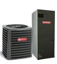 2 Ton Goodman 15 SEER Heat Pump System GSZ140241, AVPTC29B14 Variable Speed