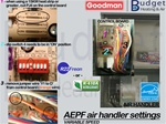 Low Volt Wiring diagram for Goodman R22 heat pump GSH* with back up heat strips ARUF air handler
