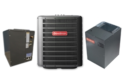 Goodman 3.0 Ton 18 SEER Two Stage Central System GSXC180361, Cased Coil, MBVC2000 Variable Speed, TXV