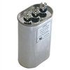 Capacitor Oval Dual Section 55/5 MFD 370/440VAC