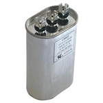 Capacitor Oval Dual Section 80/5 MFD 370/440VAC