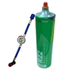 "Freon R22 Refrigerant w/ UV Dye & Stop Leak 28oz Disposable One Step Can w/ Gauge & Hose 1/4"" Connection"