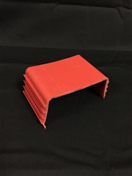 PVC Line Cover Block Bracket (secures insulated copper lines, condensation line, and communication wire to base)