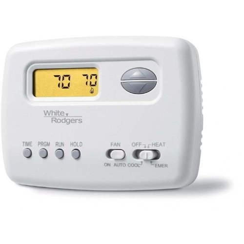 white rodgers heat pump programmable 2 heat 1 cool 1f72 151 not rh budgetheating com White Rodgers Thermostat Troubleshooting White Rodgers Thermostat Operating Manuals