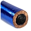 "Flexible Duct 10"" R6 Blue Jacket Antimicrobial AMG Flex 25ft Bag"