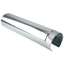 "Metal Snap Lock 8"" Round Pipe 5' Section"