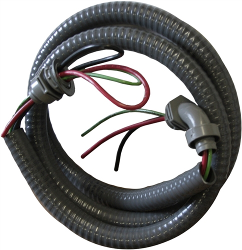 Water Proof Electrical Whip #8 Wire 3 conductor 3/4\