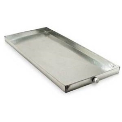 "Drain Pan Overflow 26"" x 50"", Plastic or Galvanized Metal"