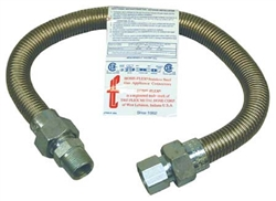 "3/4"" Flexible Connector For LP or Natural Gas Furnace 36"" Length"