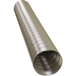"4"" Metaflex V350 Aluminum Flexible Air Duct 8' Length, 400F Hi-Temp"