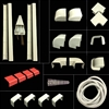Mini Split UV Resistant PVC Copper Line Cover Kit, 25'