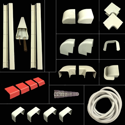 Mini split and Central Air Conditioner /& Heat Pump Line Set Cover Kit 14 Feet