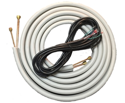 Mini Split 1/4 & 5/8 Insulated Copper, 14/4 Electrical Wire Combo - 25'