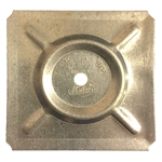 "3"" Metal Duct Tabs, Roof Plates"