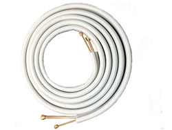 "Mini Split 1/4"" & 3/8"" Insulated Copper Line Set, 15' Length"