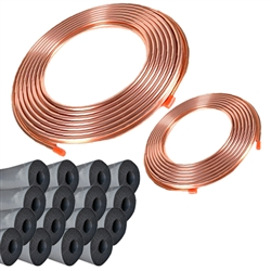 Copper Line Set 100' 1 1/8 & 3/8