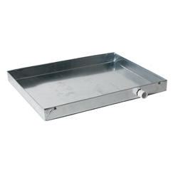 "Drain Pan Overflow 24"" x 24"", 24 Gauge Galvanized Metal"