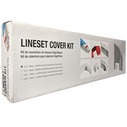 Mini Split UV Resistant PVC Copper Line Cover Boxed Kit, 13' (F)