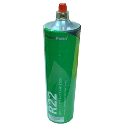 Freon R22 Refrigerant w/ UV Dye & Stop Leak 28oz Disposable One Step Can