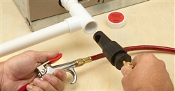 A/C Drain Line Easy Tee Service Kit & PVC Service Fitting
