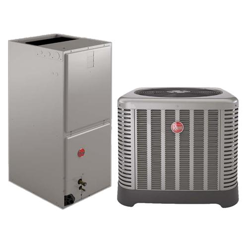 4 Ton Rheem 16 SEER Two Stage Compressor Heat Pump System RP1648AJ2NA,  RH2V4821MTANJA