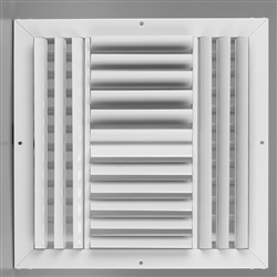 "Ceiling Supply Grill 12"" x 12"" Four Way"