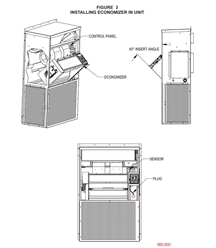 Bard Economizer 3 5, 4 or 5 Ton with Honeywell W7220 JADE Control & 3
