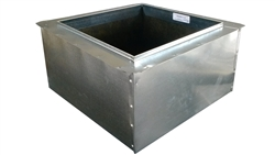 "Return Air Box, Register Boot 16"" x 16"" R6"