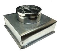"Supply Boot Metal 10"" x 10"" R6, 8"" Collar"