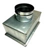 "Supply Boot Metal 8"" x 4"" R6, 4"" Collar"