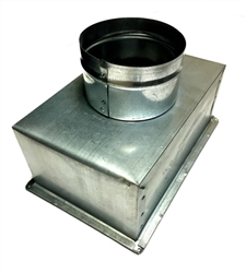 "Supply Boot Metal 8"" x 4"" R6, 5"" Collar"