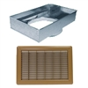 "Return Air Mobile Home Floor Filter Box & Grill Brown 14"" x 20""  14"" Round Collar"
