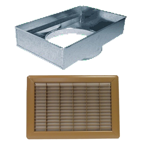 Return Air Mobile Home Floor Filter Box & Grill Brown 14