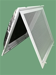 "Return Air Perforated Ceiling T-Bar Lay In Filter Back Grill 24"" x 24"", 4031FG-2MLD"