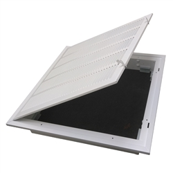"Return Air Fixed Blade Ceiling T-bar Lay In Filter Back Grill 24"" x 24"", 4020FG-2DB"