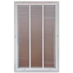 "Return Air Filter Grill 18"" x 30"" White"