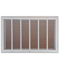 "Return Air Filter Grill 24"" x 12"" White"