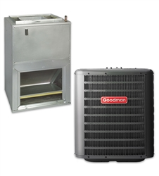 2.0 ton Goodman 14.5 seer R-410A central system with WALL MOUNT air handler GSX140241, AWUF31
