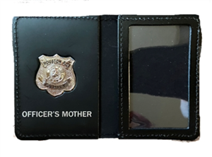 Houston Police Department Officer's Mother Family Wallet with Badge
