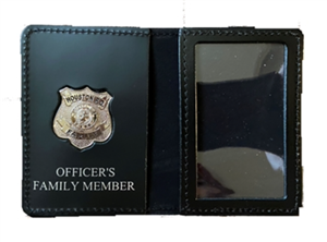 Houston Police Department Officer's Family Member Wallet with Badge