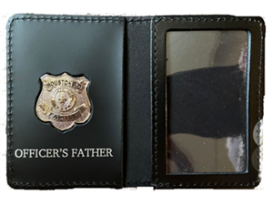 Houston Police Department Officer's Father Family Wallet with Badge