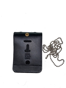 Strong Leather Universal Badge and ID Holder With Chain