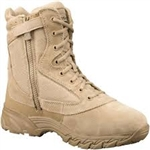 "Original S.W.A.T. Chase 9"" Side-Zip Tan Military Boot - 131202"