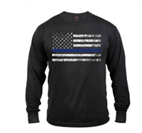 Adult Long Sleeve Thin Blue Line T-Shirt