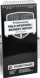 Pocket Sized Police Field Interview Notebooks #7000