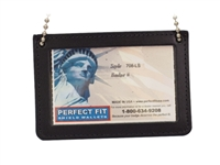 Perfect Fit Horizontal Double ID Holder w/ Chain